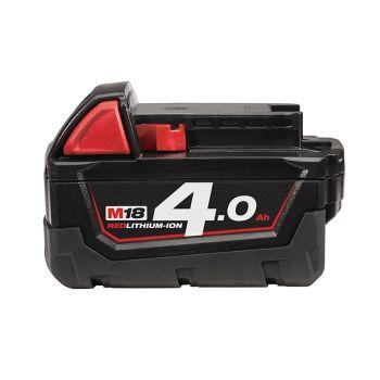 Milwaukee M18 B4 REDLITHIUM-ION Slide Battery Pack 18V 4.0Ah Li-Ion - MILM18B4