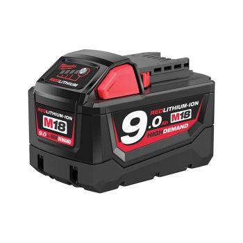 Milwaukee M18 B9 REDLITHIUM-ION Slide Battery Pack 18V 9.0Ah Li-Ion - MILM18B9