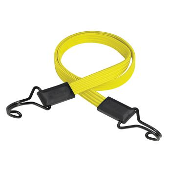 Master Lock Flat Bungee 100cm Yellow Double Hook - MLK3226E