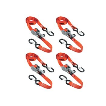 Master Lock Ratchet Tie-Down S Hooks 4.25m Red 4 Piece - MLK3236E