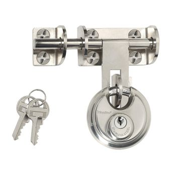 Master Lock Hasp 116mm + Discus Padlock 60mm - MLK448