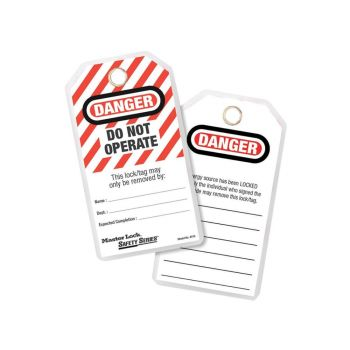 Master Lock Lockout Tags (12) - DANGER DO NOT OPERATE - MLK497A