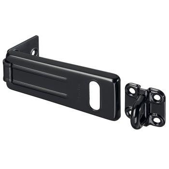 Master Lock Wrought Steel Hasp Matt Black 115mm - MLK704BLK