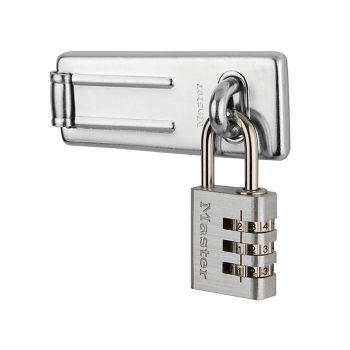 Master Lock Hasp 89mm + 3-Digit Combination Padlock 30mm - MLK7630703
