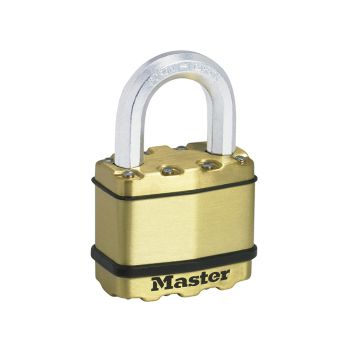 Master Lock Excell Brass Finish 50mm Padlock 4-Pin - MLKM5B