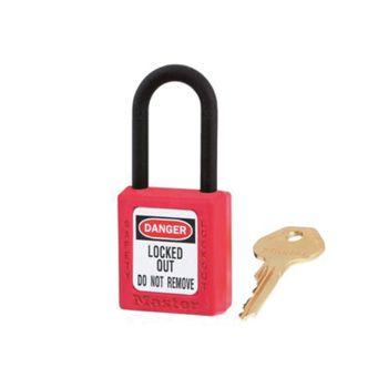 Master Lock Lockout Padlock 38mm Body & 6mm Composite Nylon Shackle - MLKS406RED