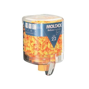 Moldex Disposable Foam Earplugs Mellows Station (250 Pairs) SNR 22 dB - MOL7625