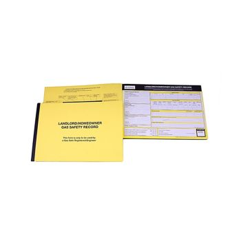 Gas Safe Pack of 50 Landlords Gas Safety Record Pad - MON532P