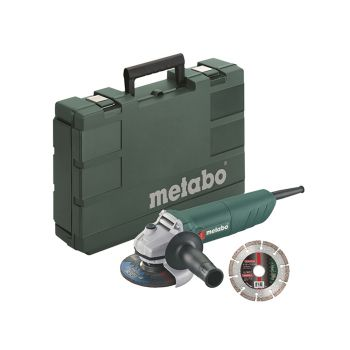 Metabo W750-115 Mini Grinder with Carry Case 115mm 750W 240V - MPTW750D