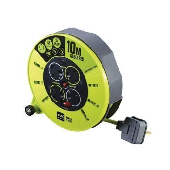 Masterplug PRO-XT Cassette Cable Reel 240V 10m 13A 4 Socket - MSTCMU10134