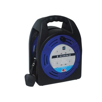 Masterplug Case Reel 20 Metre 4 Socket 13A Thermal Cut-Out 240 Volt - MSTHBT20134R