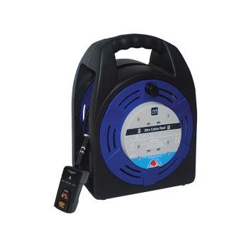 Masterplug Case Reel 20 Metre 4 Socket 13A RCD & Thermal Cut-Out 240 Volt - MSTHBT20RCD