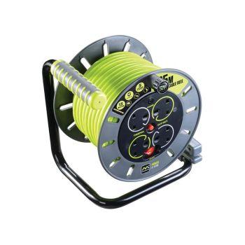 Masterplug PRO-XT Open Cable Reel 25m 13A 4 Socket - MSTOMU25134