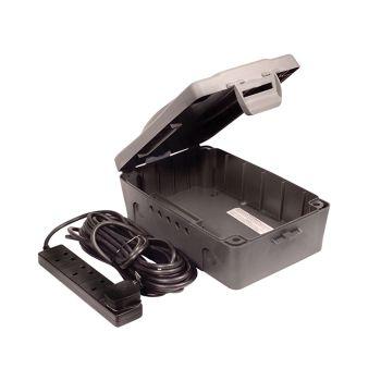 Masterplug Weatherproof Box with 10 Metre 240 Volt 4 Way Bar - MSTWBXBFG