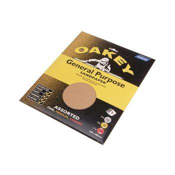 Oakey Glasspaper Sanding Sheets 230 x 280mm Grade 3 (25) - OAK58285