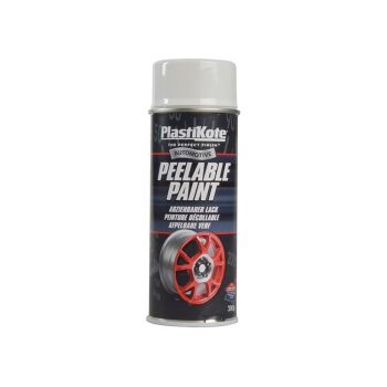 PlastiKote Peelable Paint White Gloss 400ml - PKT116003