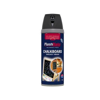PlastiKote Twist & Spray Chalkboard Paint Black 400ml - PKT26001