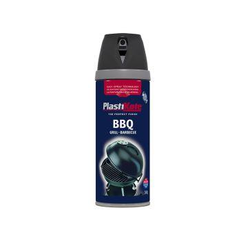 PlastiKote Twist & Spray BBQ Paint Black 400ml - PKT26020