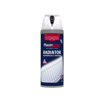 PlastiKote Twist & Spray Radiator Gloss White 400ml - PKT26100