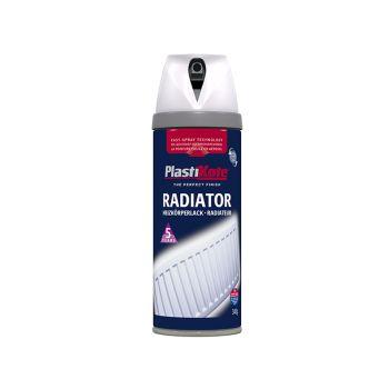 PlastiKote Twist & Spray Radiator Satin White 400ml - PKT26102
