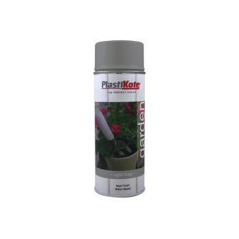 PlastiKote Garden Colours Spray Paint Light Grey 400ml - PKT27209
