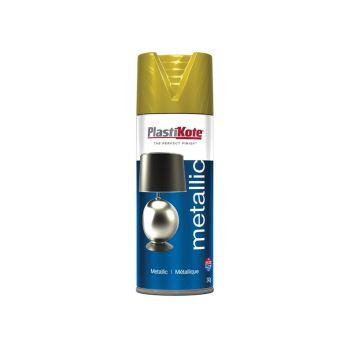 PlastiKote Metallic Spray Brass 400ml - PKT454
