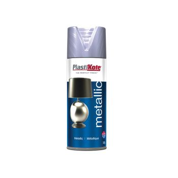 PlastiKote Metallic Spray Silver 400ml - PKT621