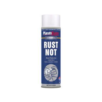 PlastiKote Rust Not Spray Matt White 500ml - PKT782