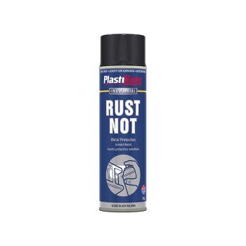 PlastiKote Rust Not Spray Gloss Black 500ml - PKT783