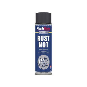 PlastiKote Rust Not Spray Matt Black 500ml - PKT784