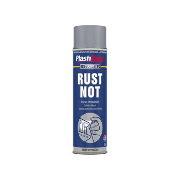 PlastiKote Rust Not Spray Matt Silver Grey 500ml - PKT791