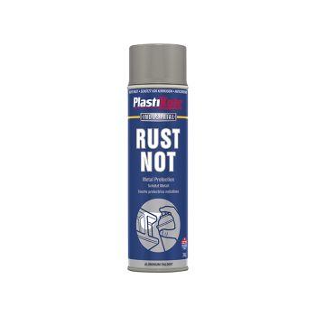 PlastiKote Rust Not Spray Matt Aluminium 500ml - PKT794
