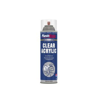 PlastiKote Industrial Spray Clear Acrylic 500ml - PKT795