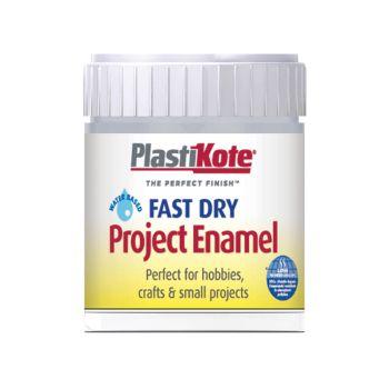 PlastiKote Fast Dry Enamel Paint B35 Bottle Chrome 59ml - PKTB35W