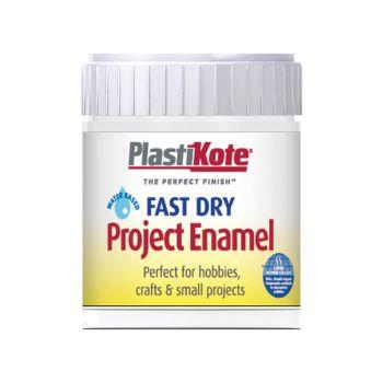 PlastiKote Fast Dry Enamel Paint B4 Bottle Gloss White 59ml - PKTB4W