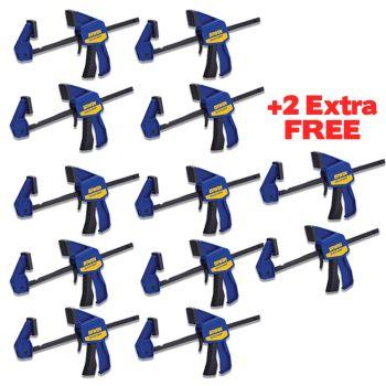 IRWIN Q/GRIP Mini Bar Clamp 6in/150mmMEGA PACK- T546EL7N - BUY 10x GET 2x FREE