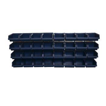 Raaco Bin Wall Panel with 32 Bins - RAA139182