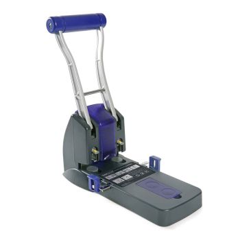 Rapesco P2200 Heavy Duty 2-Hole Punch (150 Sheets) (black / purple) - PF220AP1