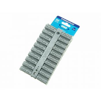 Rawlplug Grey Uno Plugs 10mm x 36mm Card of 80 - RAW68615