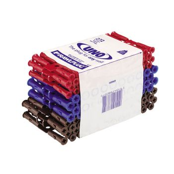 Rawlplug Uno Plugs Trade Mixed Pack of 272 + 3 Drills - RAW68636
