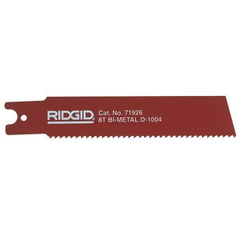 RIDGID Reciprocating Saw Blade For Heavy Wall Steel Pipe 150mm (6in) Pack Of 5 - RID71926