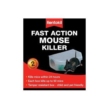 Rentokil Fast Action Mouse Killer Twin Pack - RKLPSF135