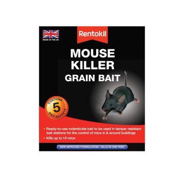 Rentokil Mouse Killer Grain Bait, 5 Sachets - RKLPSM21