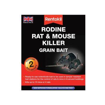 Rentokil Rodine Rat & Mouse Killer Grain Bait, 2 Sachets - RKLPSMR11
