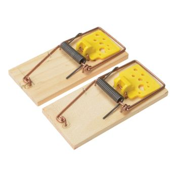 Rentokil Wooden Mouse Traps Twin Pack - RKLPSW107