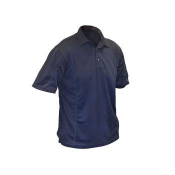 Roughneck Blue Quick Dry Polo Shirt - XL (46-48in) - RNKBLPOLOXL