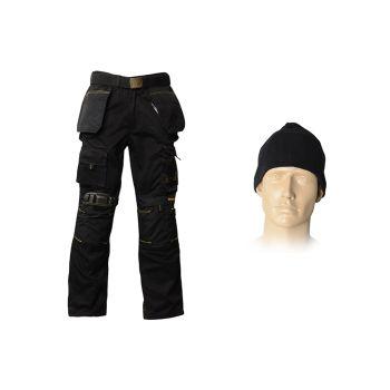 Roughneck 32in Trouser Pack, Belt, Beanie & Kneepads - RNKBOXSET32