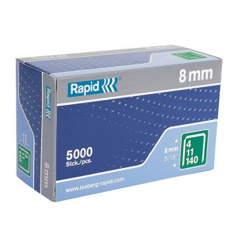 Rapid Type 140 8mm Galvanised Staples Box 5000 - RPD1408B5
