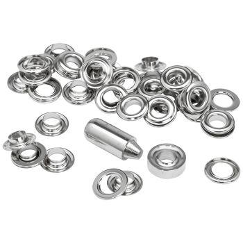 Rapid Grommets 10 x 21mm (25) + Metal Anvil & Hammer - RPD5000412