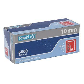 Rapid Type 53 10mm Galvanised Staples Box 5000 - RPD5310B5000